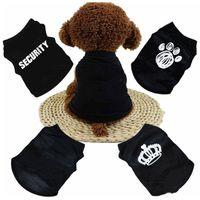 여름 개 옷 의류 고양이 고양이 조끼 작은 스웨터 애완 동물 공급 만화 의류 T 셔츠 강아지 치와와 싼 Jumpsuit outfit YHM186-1