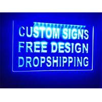 Personalizado su propio diseño LED Luz de cristal Luz Neon Signos Hecho a medida Increíble Increíble Trabajo artesanía Envío gratis