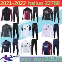 2021 파리 훈련 정장 SOLVETEMENT 20/21 파리 샹들리얼 풋볼 MBAPPE 축구 자켓 축구 트랙 슈트
