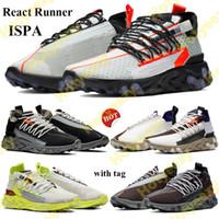 2021 반응 러너 ISPA 남성 여성 운동화 신발 유령 아쿠아 저 검은 정상 회담 흰색 백금 색조 볼트 스니커즈 트레이너 36-45