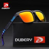 Dubery Mens 편광 낚시 선글라스 Suqare 패션 스포츠 브랜드 디자이너 여성 음영 눈 안경 태양 안경 UV400