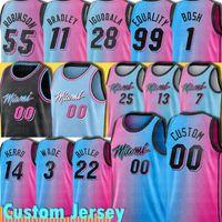 مخصص كرة السلة Jimmy 22 Butler 3 Wade Tyler 14 Dwyane Herro Miamis Jersey Kendrick Kendrick Nunn Duncan Nunn Robinson Goran Dragic
