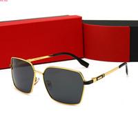 CARTIER 032 Круглых солнцезащитных очки Мужчины Женщины очки Солнцезащитных очки Бренды Дизайнеры Gold Металлические рамки UV400 линза с лучшим качеством Brown горячих товарами