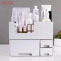 Micck Doppelschicht Desktop Makeup Organizer Frauen Schublade Kosmetik Aufbewahrungsbox Schmuck Makeup Lippenstift Lagerung Badezimmer Organizer Z1123