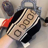 2021 Fashion Beanie Classic Letter Crânio Cap de Fios Homem Mulher Quente Outono Inverno Unisex 2 Cor Chapéus Top Quality