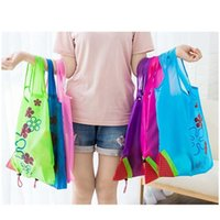 Strawberry Folding Shopping Bags 11 Colors Home Storage Bag Reusable Grocery Tote Bag Portable Folding Shopping Conven jllASe sport777