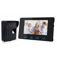 Fingerabdruck-Zugangskontrolle 7-Zoll-drahtloses Video-Türklingel-Gegensprechanlage 2,4 GHz digitales Türsprechsystem mit Camera1