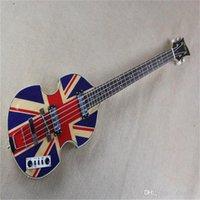 Hofner 500/1 4 cuerdas Guitarra eléctrica Guitarra coreana Buenas pastillas y Union Electronic Union Jack Top Top