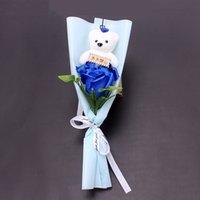 Ours Rose Fleur De Mariage Décorations de mariage Bouquet Saint-Valentin Cadeau Savon Fleur Faux Fleurs 7 Style HHB4235 92 J2