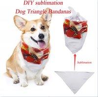Diy التسامي الكلب مثلث bandanas تعديل كلب القط الرقبة وشاح التعادل ربطة العنق باندانا طوق نيلد الكلب الملحقات