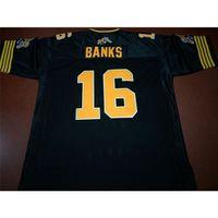 Benutzerdefinierte 121 Jugendfrauen Vintage Hamilton Tiger-Cats # 16 Brandon Banken Fußball Jersey Größe S-4XL oder benutzerdefinierte Name oder Nummer Jersey