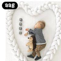Aigh noeud design bébé lit bébé peluche peluche nouveau-née tissage à la main tissage corde nœud nœud cothab card Protection infantile chambre décor apaisant jouet simple