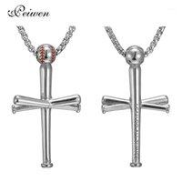 Ожерелья кулон ожерелье для мужчин Спортивная нержавеющая сталь бейсбольная колье для мальчиков подарок ювелирные изделия1