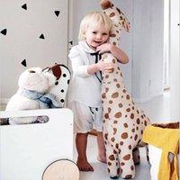 Desenhos animados animal girafa girafa pelúcia brinquedo de pelúcia pé dolls criança menino namorada amigo crianças brinquedo brinquedo