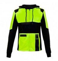 Otoño e invierno Nueva camisa de carreras de motocicletas Hombre Suéter con capucha Chaqueta con capucha Ocio de algodón con capucha de cremallera de motocicleta