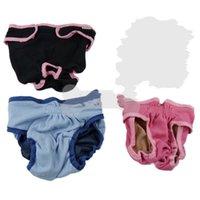 Сплошные цветные менструальные брюки средняя домашняя собака новая снабжение одежды аксессуары эластичная сука регулируемые физиологические брюки 12DL K2