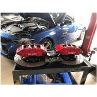 Klakelbremse Kit Aluminium geschmiedete Leichte Starke Bremsen Rotor 9040 Sechs Kolbenwagen-Bremssattel-Reparatursatz Fit für BMW E46