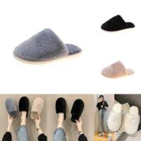 KJ0PR AOXUNLONG Kadın Kış Kürklü Terlik Ayakkabı Kürk Slaytlar Için Peluş Terlik Çocuk Rhinestone Bayanlar Peluş Moda Lady Sıcak Kabarık Flip