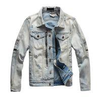 Giacca da uomo Denim Jacks Fashion Jacks Giacche Biker Demin Giacche Casual Streetwear Vintage Mens Jean Hip Hop Abbigliamento M-4XL Top Quality