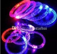 LED Glitter Braccialetto Bandle Bandle LED Cristallo Gradiente Colore Anello A Mano Acrilico Glow Flash Light Sticks Party Dance X BBYMKP Ladyshome