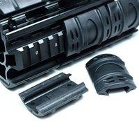 Cuadro táctico Picatinny Guardia de mano Cubiertas de riel de goma Weaver Funda de riel 60pcs / lote Material de goma negro.