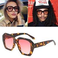 2020 dpz nuevo diseño de marca cuadrado hombres retro gafas de sol gran marco estrella salvaje calle disparando mujeres gafas s9005