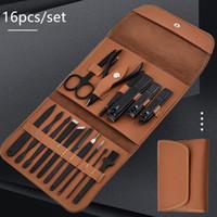 Новые 16 шт. / Установленные маникюрные набор Pedicure Scissor Tweezer Kne Ear Pick Утилита для ногтей Клипер для ногтей, комплект инструментов для ухода за ногтями из нержавеющей стали
