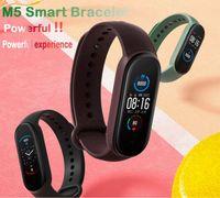 M5 Akıllı İzle 5 Gerçek Kalp Hızı Kan Basıncı Bileklik Spor Smartwatch Monitör Sağlık Spor Izci Akıllı İzle Akıllı Çağrı Bilezik 1