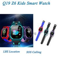 Универсальный Q19 Kids Smart Watchs SOS Аварийный вызов Анти потерянный Детский трекер Поддержка SIM-карты LBS Расположение Z6 SmartWatches