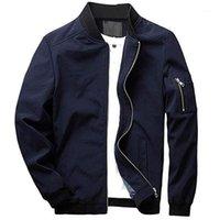 Marka Yeni Ceket Erkekler Rahat İlkbahar Sonbahar Slim Fit Softshell Uçuş Bombacı Ceketler Mens O-Boyun Hafif Mont 5XL Clothes1