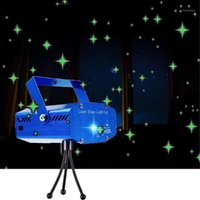 Mini Laser Projector Stage Light Remote Control Auto Flash S...