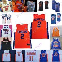 2020 Benutzerdefinierte Florida Gators Statistiken Basketball Jersey NCAA College Omar Payne Noah Samson Ruzhemsv Colin Castleton Niels Lane Jason Jitoboh