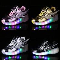 Risrich Kids LED легкие роликовые туфли для мальчиков девочка светящиеся света кататься на коньках кроссовки на колесах детские роликовые коньки крылья туфли J1208