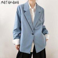 Converses de femmes Blazers Matakawa High Sense Blazer Blazer Femmes Automne 2021 Vêtements d'hiver solides
