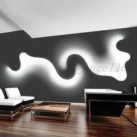 Yaratıcı Akrilik Eğri Işık Yılan LED Lamba Nordic Dekor için LED Kemer Duvar Aplik