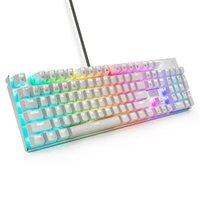 Z-88 RGB механическая игровая клавиатура красный переключатель линейный тихий RGB подсветку водостойкие 104 ключей против призрака для MAC PC белый