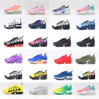 2020 Üst Yüksek Kalite Hava Tasarımcısı Erkek TN Bayan Koşu Artı Ayakkabı Mor Limon Limon Siyah Beyaz Üçlü S Eğitmenler Spor Sneaker ABD 5-13