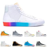 Blazer Meados 77 homens mulheres correndo sapatos têm um bom jogo multi cor vintage slam geléia hack pack homens treinador sapatos esportivos sapatilhas