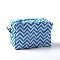 Chevron Makeup Bag Classic Rectangle Zig Zag Cosmetic Bags Custom Designer Make Up Cases Gift Toiletry Organizer Case DOM106001