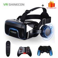 VR Shinecon 10.0 غصيلة خوذة نظارات الواقع الافتراضي سماعة للهاتف الذكي الهواتف الذكية نظارات الفيديو لعبة Viar مناظير LJ200919