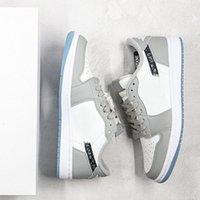 Marca Casual Sports Zapatos Hombres y mujeres Alto Cuero bajo 1S Skateboard Ashion Sneaker Unisex