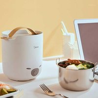 Rice Cookers 220V 1.3L Mini Portable Electric Cooker Household Heating Box Multi Cooking Pot With Stainless Steel Inner1