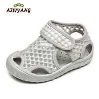 Ailvyang marca bebê meninos menina verão malha sandálias sapatos crianças respirável praia sapato sapato casual sapatos antiderrapantes A09 Y200103