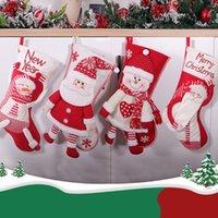 Милые новогодние рождественские чулки кулон ткань орнаменты мультфильма снеговика лось маленькие сапоги сапоги Санта-Клаус конфеты яблочный подарок