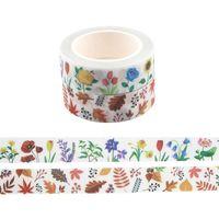 D3348 HomeGaga 15mmx5m Plantes Stickers de papier décoratif DIY Craft Scrapbook Fleur Ruban adhésif Cute Washi Ruban