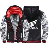2020 hiver Honda Carte à glissière pour hommes Sweatshirt Sweatshirt Coat épaississement plus coton rembourré à manches confortables vestes