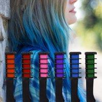6 couleurs kits de peigne de couleur jetables de cheveux jetables Mini temporaire de cheveux Crak Crak Crak Kits de colorant SALON TYEI SQCZQE