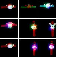 Flash Christmas Slap Snap Braccialetto Braccialetto Braccialetto Cerchio Xmas Bambini regalo Babbo Natale albero di Natale cervi di Natale Anello Biglietto Bambino giocattolo bambino 300pcs T1i3017-1
