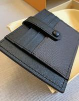الكلاسيكية الرجال النساء حقيبة الائتمان حقيبة حامل الأزياء محفظة أكياس مصمم جواز سفر عملة محفظة بطاقة حقيبة حامل مع صندوق وكيس الغبار