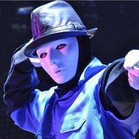 Cosplay Parti Yetişkin Tam Yüz Maskeleri Sokak Hayalet Dans Maskeleri Dansçı Maskeleri Hip-Hop Maske Cadılar Bayramı Beyaz Yüzey Maske